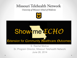 Show-Me ECHO - University of Missouri