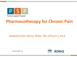 Pharmacotherapy (Non-Opioid)