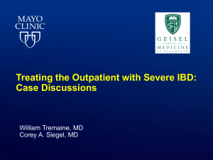 Case Discussions - Advances in Inflammatory Bowel Diseases