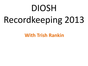DIOSH recordkeeping 2013