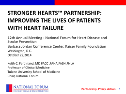 presentation slides - National Forum for Heart Disease