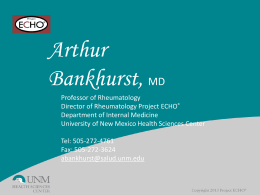 Sanjeev Arora M.D. - New Mexico Academy of Family Physicians