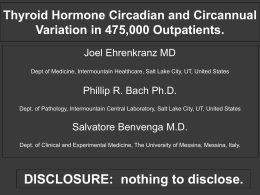 Thyroid Hormone Circadian and Circannual Variation in - i-calQ