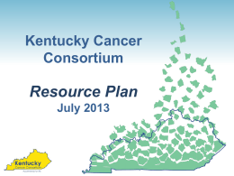 Resource Plan Overview - Kentucky Primary Care Association