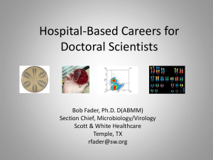 Hospital-Based Careers for Doctoral Scientists