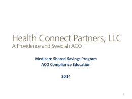 MSSP training - Providence Health & Services