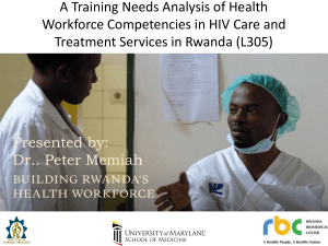 WEAB030 – A Training Needs Analysis Of Health Workforce
