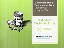 Medication Error Quiz
