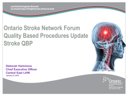 Central East LHIN - Ontario Stroke Network