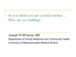 So you think you are a social smoker