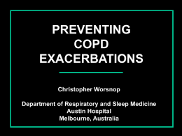 Preventing Exacerbations in COPD