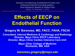 EECP Randomized Study - NO Production