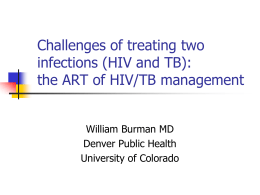 HIV and TB - American Lung Association