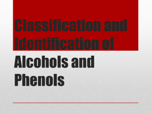 Classification and Identification of Alcohols and Phenols