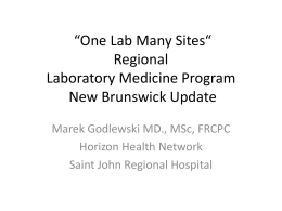 What`s New Lab Medicine in New Brunswick?