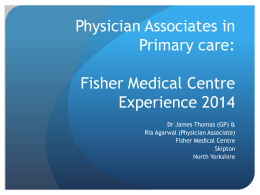 Physician Associates - Health Education Yorkshire and the Humber