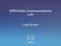 L-01 Case Studies - Publications - International Atomic Energy Agency
