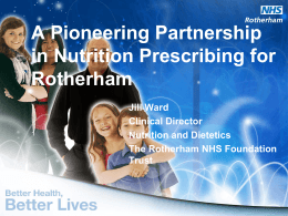A Pioneering Partnership in Nutrition Prescribing for Rotherham (MS