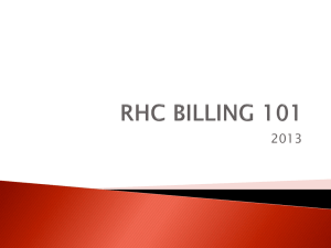 Rural Health Clinic: Topics in Billing, Cost Reporting