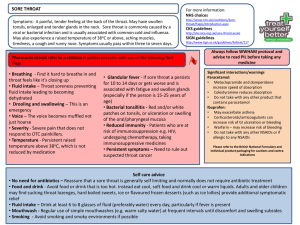 Self care pathway Sore throat (Final 2)
