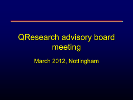 Powerpoint - QR advisory board presentation