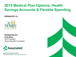 2015 OE Meeting - Plan Options and HSA Education