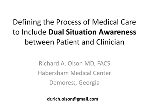Defining the Process of Medical Care to