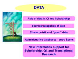 Using Clinical Data for Scholarly Projects