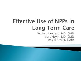 Effective Use of NPPs in Long Term Care