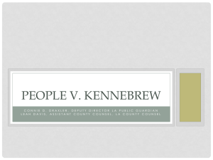 People V. KENNEBREW - California Association of Public