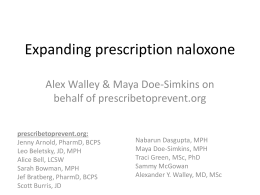 Expanding Prescription Naloxone