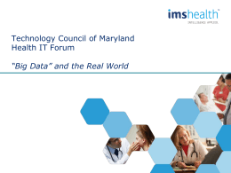 """Big Data"" and the Real World - Montgomery County Chamber of Commerce"