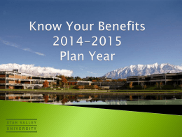 Know Your Benefits Presentation