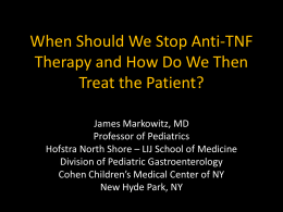 When Should We Stop Anti-TNF Therapy and How Do We Then
