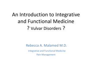 An Integrative and Functional Medicine Approach to Vulvar