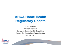 2012 Law Changes - Agency for Health Care Administration