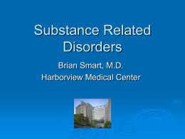 Substance Related Disorders - California Association for Alcohol