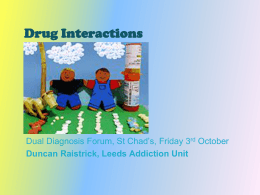 Drug Interactions - Dual Diagnosis Leeds