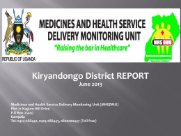 Kiryandongo District Brief Report 2013