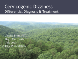 Cervicogenic Dizziness Description