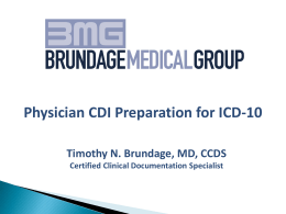 ICD-10 preparation for physicians
