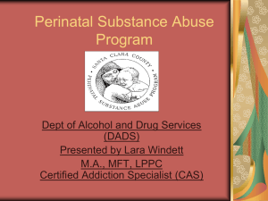 Perinatal Substance Abuse Program
