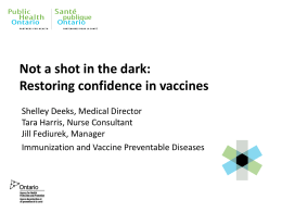 Not a shot in the dark: Restoring confidence in vaccine safety