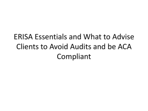 ERISA Essentials and What to Advise Clients to Avoid Audits and be