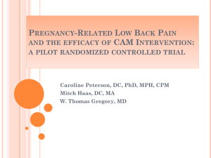 Pregnancy-Related Low Back Pain