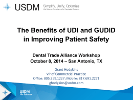 The Benefits of UDI and GUDID in Improving Patient Safety