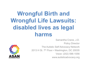 "or ""wrongful birth"" lawsuits - Disability Rights Education & Defense"