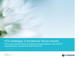 HTA-challenges in the Medical Device Industry (Jeppe Sørensen)