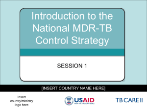 Introduction to the National MDR