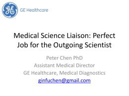 Medical Science Liaison: Perfect Job for the Outgoing